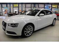 Audi A5 SPORTBACK TDI SE TECHNIK [SAT NAV / LEATHER / 1 OWNER] (ibis white) 2014