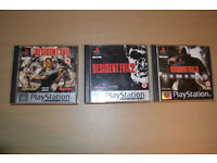 RESIDENT EVIL - TRILOGY - 1 2 3 PS1