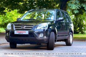 Honda CRV Executive, 2.0 Ltr, 2005, Automatic, i-Vtec 4X4 Full Year's MOT