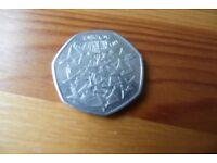 RARE 50P EEC COIN