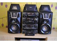 TECHNICS SA-EH60 AMP CD TUNER SOUND PROCESSOR 5x SPEAKERS HIFI WITH PHONO INPUT