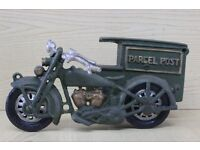 Cast Iron Motorcycle & Sidecar.