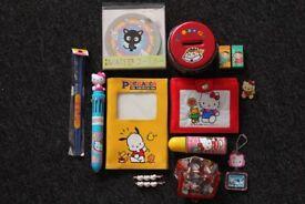 Sanrio Anime Joblot Hello Kitty Dragonball Z Japanese Wallet Pen Keyring Brooch Money Tin Purse