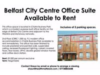 *** Belfast City Centre Office Suite Available to Rent*** Inclusive of 3 parking spaces