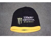 MONSTER ENERGY TECH 3 BEANIE HAT BLACK/YELLOW
