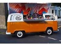 ONE FOR THE ROAD...Vintage 1972 VW Campervan pop-up bar....available for hire