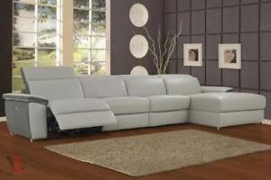 FREE Delivery in Vancouver! Aura Leather Power Reclining Large Sectional with Right Facing Chaise!