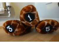 Golf Club Head covers [1,3 and 5]