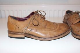 Brown boys Next brogue shoes size 4 - worn once for a wedding great condition