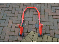 REAR MOTORBIKE ADJUSTABLE PADDOCK STAND.