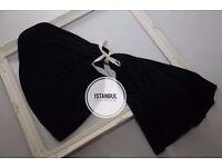 Black Pleated Shawl & Scarf - Brand New