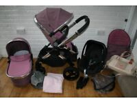 iCandy Peach 3 Marshmallow pink pram with car seat 3 in 1 plus extras CAN POST