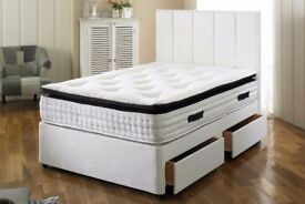 --DISCOUNTED PRICE--King DOUBLE size Luxury DIVAN Bed + Orthopaedic Mattress SAME DAY DELIVERY