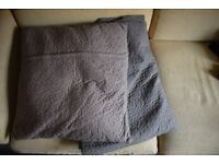 Large matching IKEA cushion and blanket in grey