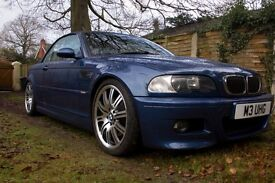 BMW M3 Convertable. Low miles, FSH.