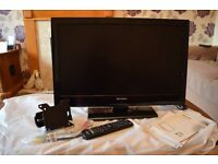 SharP Tv wth built in DVD player
