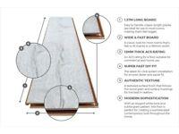 5.16 m2 (4 packs) 12mm Laminate flooring