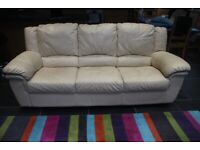 Large Three Seater Quality Leather Settee