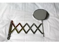 Extending Wall Mounted Mirror (Bathroom Cosmetic/Shaving Mirror /Magnifying Makeup)