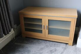 TV Cabinet with Glass fronted Doors RRP £300 - Now £100