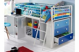 Brand New Mezzo Sleep & Storage Solution Blue Kids Boys Storage and Sleeping