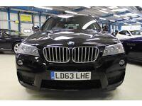 BMW X3 XDRIVE30D M SPORT [1 OWNER / PRO NAV / CAMERA] (jet black) 2013