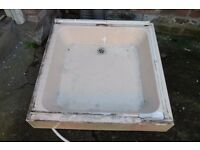 Free! Shower Tray Pan - cast concrete / cement - Forestside Area