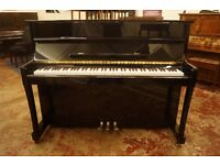 New upright piano in polished ebony - Free delivery and matching adjustable bench
