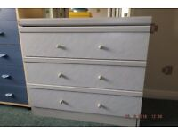 3 drawer chest with dressing table mirror