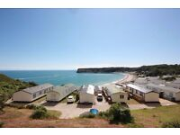 3 bed preowned holiday home with patio doors, at Lydstep nr Tenby, on the beach, free boat launch