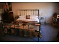King size bed frame and base with matching bedside tables