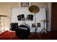 Sonor 507 Drum, Black, very good condition, Need to get rid as going to Uni