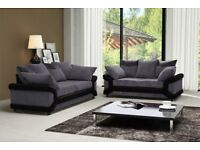 L OR RIGHT HAND SIDES AVAILABLE -- New jumbo cord Dino 3 + 2 seater or corner sofa set