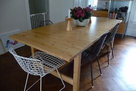 Solid wood IKEA NORDEN extendable dining room table (4-8ppl)