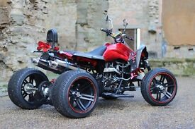 NEW 2016 250CC RED ROAD LEGAL QUAD BIKE ASSEMBLED IN UK FINANCE AVAILABLE , FREE NEXT DAY DELIVERY