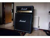 Marshall 50 Watt amp head and 4x12 cab (Greenbacks)