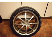 """peugot206 4 stud 17""""alloys with good tyres set of 4"""