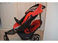 Phil & Teds Cherry Navigator double buggy