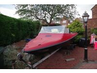 2 Seater Speed Boat for sale including trailer and extras !