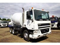 2006 56 PLATE DAF CF75.310 6X4 CONCRETE MIXER TRUCK DAF CEMENT MIXER VOLVO MIXER SCANIA MIXER CEMENT
