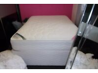 DOUBLE BED/MATTRESS - AS NEW CONDITION WITH BEDDING SET
