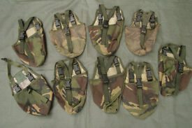 British Army Issue PLCE Entrenching Tool Cover / Pouch (DPM or Green)