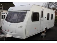 Lunar Solaris 2007 4 Berth Fixed Island Bed Caravan + Motor Movers