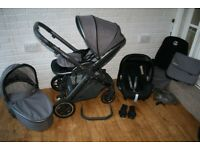 Oyster 2 Special Edition Zink (grey) pram with maxi cosi travel system 3 in 1 CAN POST