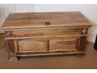 Solid Wood Sheesham Blanket Box / Ottoman