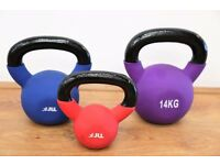 JLL Fitness Ltd - Neoprene Kettlebells - Ex Display - (4kg-24kg) - Delivery Or Collection Available