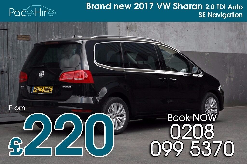 VW Sharan, 7 seat, PCO car hire, PCO rental, PCO hire, PCO car rental, Uber ready cars, PCO, Uber