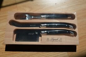 Laguiole Cheese Knife 3-piece set - *Brand new still in wrapping* £30 RRP