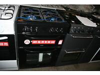 Bush BDFD60B Dual Fuel Cooker- Black. NEW