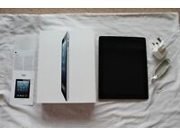 Apple iPad (4th Gen) - Wi-Fi + Cellular - 32 GB - Black - Perfect Condition - Box & Charger
